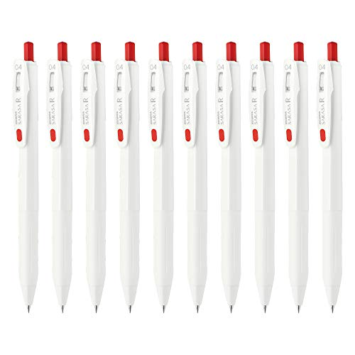 ゼブラ ジェルボールペン サラサR 0.4mm 赤 10本 B-JJS29-R1-R