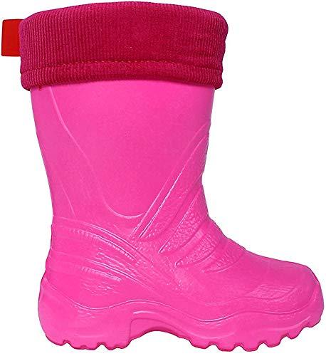 LEMIGO Kinder EVA Gummistiefel gefüttert leicht TERMIX 861 (28/29, pink)