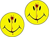 Vinyl Overlays 720 2-3' Set Smiley Face Dead Decal Head Shot Bullet Hole Guns Sticker Car Bumper Window Decal Blood