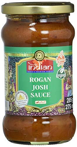 TRULY INDIAN Rogan Josh Sauce – Leicht scharfe Fertigsauce für schnelle Gerichte mit natürlichen Zutaten – Authentisch indisch kochen – Vegan & glutenfrei – 6 x 285 g