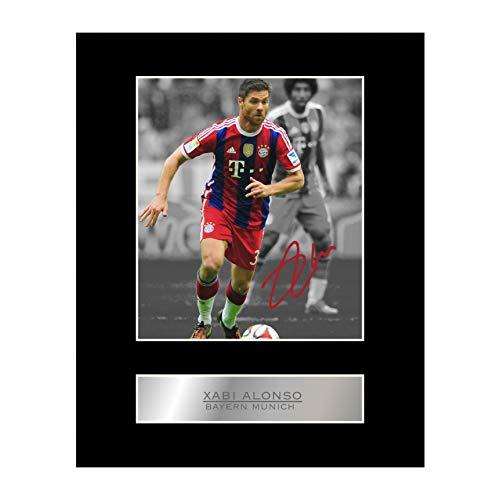 Foto enmarcada firmada por Xabi Alonso Bayern Múnich FC