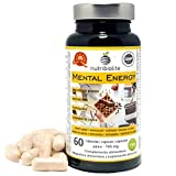 Mental Energy Nootropico Naturale, Aumenta la Concentrazione Memoria Creatività e Motivazione, Prottege il Cervello, Estratti di 6 piante + 5 amminoacidi + fosfolipidi + Vit B, Vegan, Senza Glutine