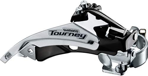 SHIMANO TY500, Deragliatore Dual Pull Unisex Adulto, Nero, 31,8-34,9mm