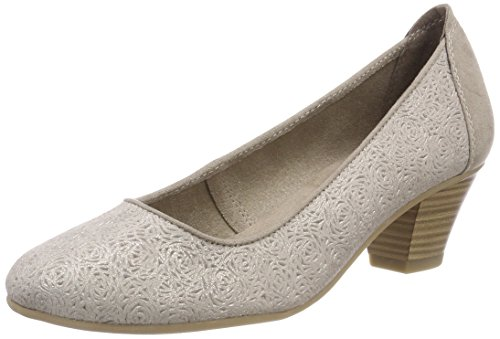 Jana Damen 22304 Pumps, beige (taupe/metal), 40 EU