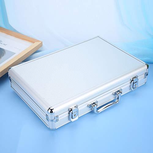 Durabilidad Portátil Caja de 24 rejillas Maleta Caja de almacenamiento de exhibición de reloj con almohada suave para relojes Protección