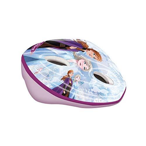 Disney Frozen II Casco da Bicicletta Easy Bambino - Il segreto di Arendelle Frozen 2 Casco di Protezione per Bambini Taglia Regolabile 53-55 cm
