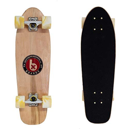 Bextreme Cruiser Allroad Penny, Skate, Longboard Completo Ideal para desplazarse (Cruising). Monopatin para niños y Adultos. Skateboard Mediano de Madera