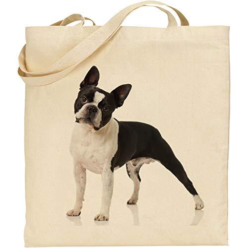 C & S Products CS Boston Terrier 4801 | Baumwolle | wiederverwendbar | Shopping | Strand | Tragetasche | Tasche
