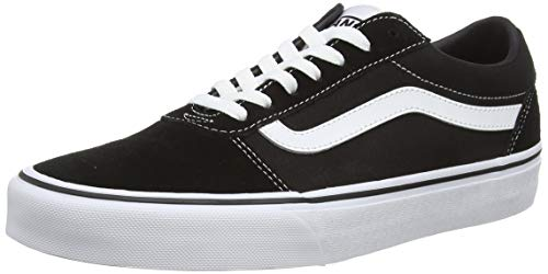 Vans Ward Canvas, Zapatillas Hombre, Negro ((Suede/Canvas) Black/White C4R), 43 EU