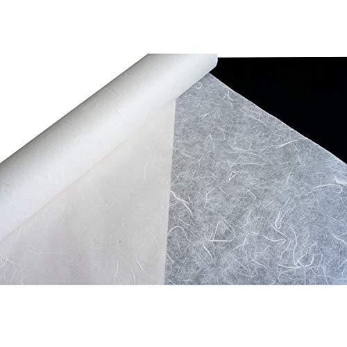 Korean Traditional Mulberry Paper HanJi Roll Natural Fiber Texture White 21.3 x 787.4 by NaRaOn HanJi