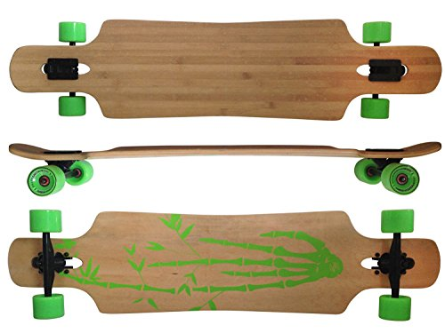 MAXOfit® Deluxe Longboard GeoLines Bambou No.96, Drop Through, 96.5 cm, ABEC11 (64296)