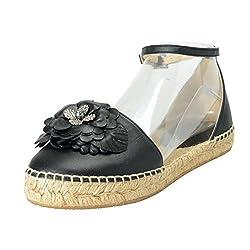 Black Dylan Leather Ankle Strap Sandal Shoes Sz US