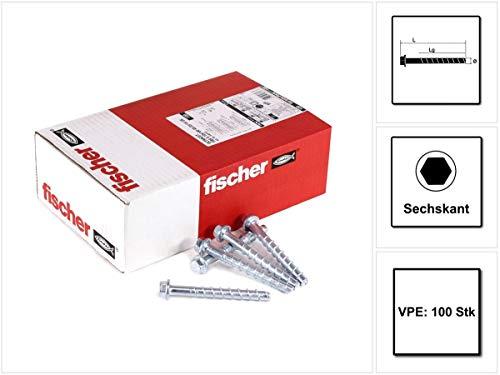 Index HPZ75112 Sachet de 100 vis /à b/éton t/ête plate filetage hi-lo pointe diamant torx-30 zinc 7,5 x 112