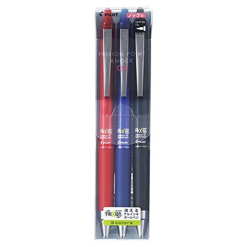 ボールペン 『フリクション ポイントノック 0.4mm 3色セット LFPK75S4-3C』 PILOT パイロット