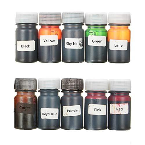 EsportsMJJ 10 Farben Epoxid-Harz Uv-Farbstoff, Den Farbstoff Harz Flüssig Pigment Mix Farbe Diy Kunst Handwerk