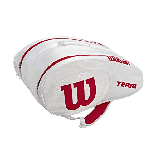 Wilson Padel, Racquetball/Paddle Bag Unisex-Adult, White/Red, One Size