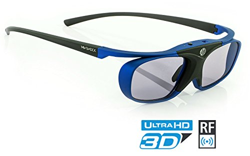 Hi-SHOCK RF Pro Deep Heaven | Funk 3D Brille für JVC & SONY RF Beamer VPL-VW500ES, VPL-VW300ES, VPL-VW520, VPL-VW320, VPL-HW45 ES, VPL HW65 ES / TDGBT500A [Shutterbrille | 120 Hz | Akku | 32g]