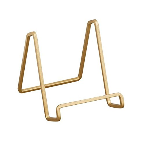 TRIPAR 50226 6.5 Inch Gold Color Metal Square Wire Stand
