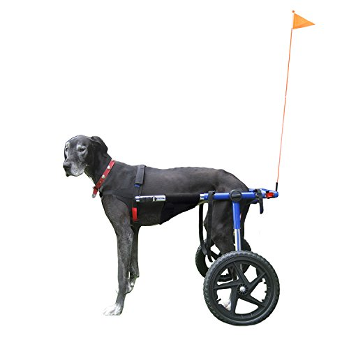 Walkin' Wheels Elite Dog Wheelchair - for Large Dogs 70-180 Pounds - Veterinarian Approved - Dog Wheelchair for Back Legs with Upgraded Accessories