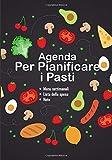 Agenda per pianificare i pasti: v1-4 Perfetta per pianificatore dei pasti per l'intera settimana | scrivere una lista della spesa per ogni pasto | 111 ... frutta, verdura, pane e formaggio farandole