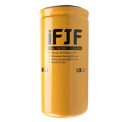 iFJF 1R-0750 Fuel Filter for Duramax 6.6L 2001-2016 Chevrolet/GMC Caterpillar D4E D6HLGP 14H Replaces TP3018 TP3012 19305685 12664429 12633243 BF7633 P551313