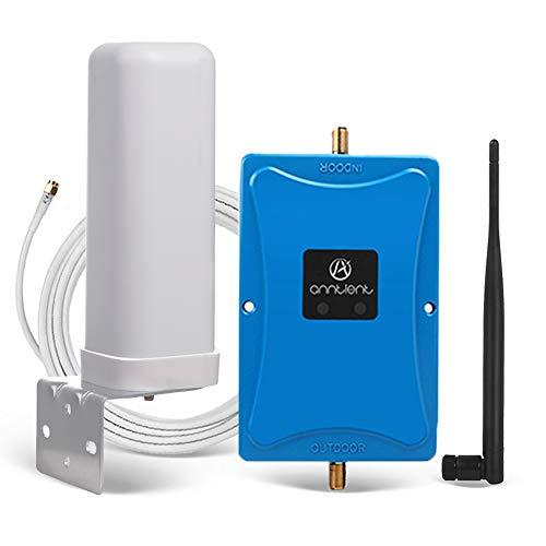 ANNTLENT Handy Signalverstärker 800MHz (Band 20) & 2600MHz (Band 7) Signal Booster LTE 4G Dual-Band-Signalverstärker für Multiuser