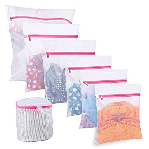 BoxLegend Wäschenetze Wäschebeutel Wäschesack für Waschmaschine 7 Stück Haltbarer Netz-Wäschebeutel mit Reißverschluss für Feinwäsche Unterwäsche Feines und Socken