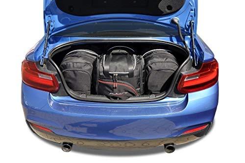 KJUST Dedizierte Reisetaschen 4 STK Set kompatibel mit BMW 2 Coupe F22 2013 -
