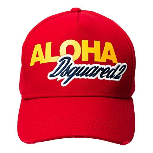 DSQUARED2 D2 Aloha - Gorra de béisbol, color rojo