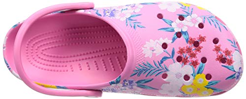 Crocs Classic Printed Clog Tropical Floral Pink Lemonade