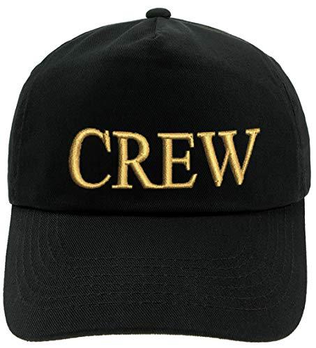 4sold Erwachsene und Kinder Kapitänsmütze Cap Captain Cabin Boy Crew Yachting Baseballmütze Inschrift Schriftzug Schwarz Gold Weiss Army Military Baseballmütze Security (Crew, Kinder)