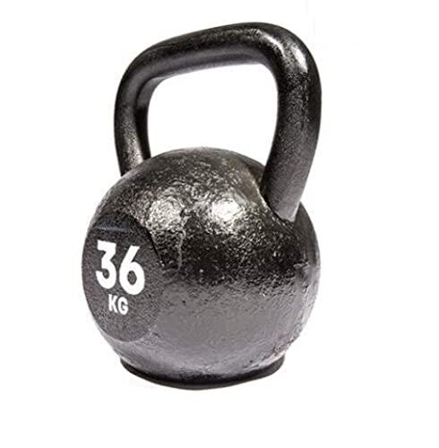 YLJYJ Fitness Kettlebells de Hierro Fundido, Kettlebell de Fitness, Kettlebells para Entrenamiento de Fuerza, Kettlebells Lifting Pot Dumbbell Fitness para Hombre Hombre, 36 kg_A
