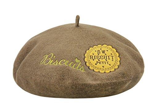 YJZQ Damen Baskenmütze Herbst Winter Filzbaske Beret Cap mit schönem Muster Mädchen Wollmütze Französische Maler Cap