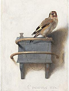 Fabritius The Goldfinch Bird Animal Nature Painting Art Print Canvas Premium Wall Decor Poster Mural