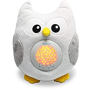 Toysdone White Noise Sleep Aid Night Light & Shusher Sound Machine & Baby Gift, Woodland Owl Decor Nursery 10 Popular Songs for Crib to Comfort Plush Toy & Portable Soother Stuffed Animals Owl