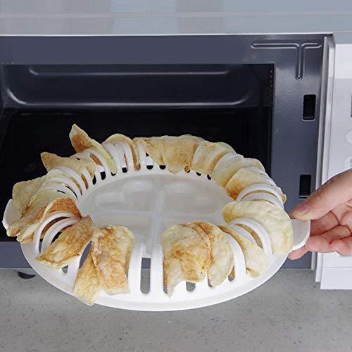 Topzon Aardappel Chips Bakken - Magnetron Oven Gebakken Aardappel Chip Diy Bakken, Magnetron Oven Heerlijke Gebakken Aardappel Chip