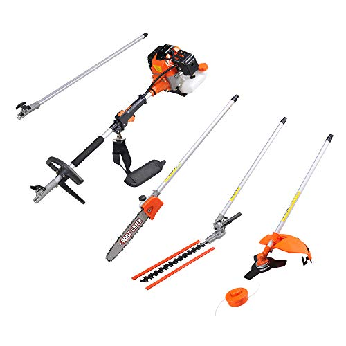 Wolf Creek 58G Multi-tool 58cc 2 stroke 5 in1 Long Reach Hedge Trimmer, Strimmer, Pruner Chainsaw, Brush Cutter & Extension Pole