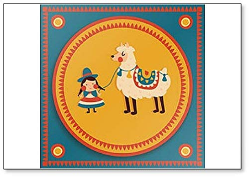 Imn clsico para nevera con ilustraciones tradicionales de Bolivia