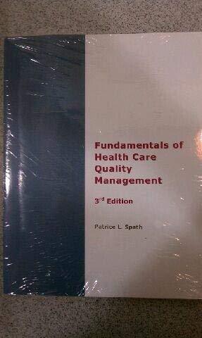 Fundamentals of Health Care Quality Management
