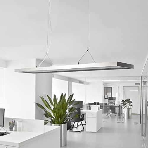 Arcchio LED Pendelleuchte 'Dorean' (Modern) in Alu aus Metall u.a. für Arbeitszimmer & Büro (2 flammig, A+, inkl. Leuchtmittel) -...