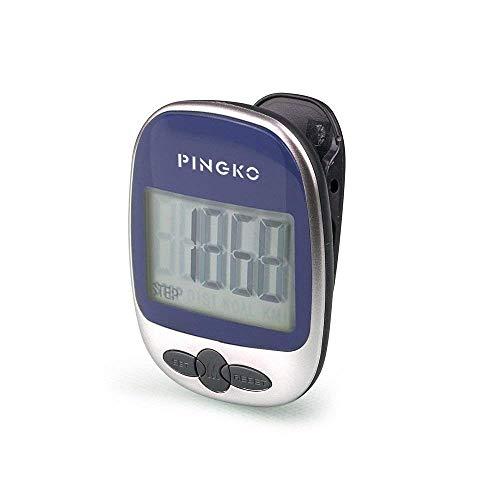 PINGKO Podómetro portátil con precisión para Correr en Pistas Deportivas, Contador de distancias, Contador Fitness, Contador de calorías-Azul