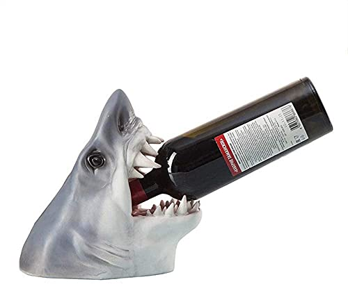 SDKFJ Botelleros y armarios para Vino Bandeja de Vino Artesanías de Resina Decoración del hogar Adornos Estante de Vino de Animales Estante de Vino de tiburón 0721