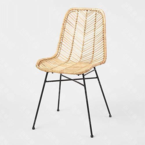 Haus Dekoration Wohnzimmerstühle Moderne minimalistische Art Handgewebe Freizeit Wicker Stuhl Wohnzimmerstühle