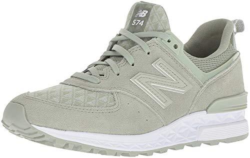New Balance Damen 574 Sneaker, Silber (Silver Mint), 40 EU