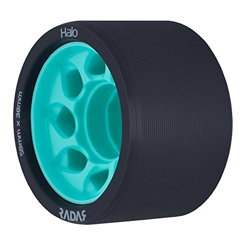 Radar Wheels - Halo - Roller Skate Wheels - 4 Pack of 38mm x 59mm Wheels | Teal 88A