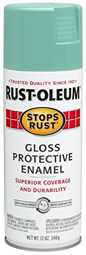 Rust-Oleum 284678 Stops Rust Spray Paint, 12-Ounce, Gloss Light Turquoise