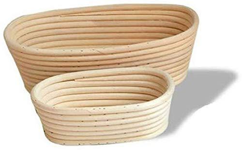 KRY Runder/ovaler Brotprüfkorb für professionelle Hausbäcker Sauerteigschutz, Handwerkliches Brot (oval-21x15x8cm)