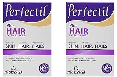 (2 PACK) - Vitabiotics Perfectil Plus Hair Tablets| 60 + 60 Tabs | 2 PACK - SUPER SAVER - SAVE MONEY