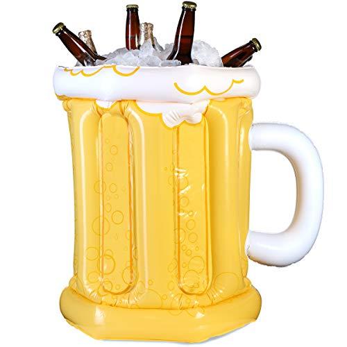 Juvale Aufblasbarer Bierkrug für Partys, 58,4 x 48,3 cm