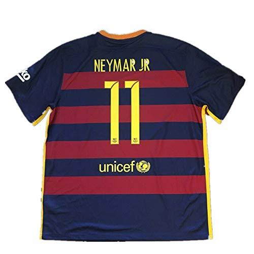 Girant Xng Neymar Jersey 2015/2016 Jersey #11 Home Soccer Kids/Youth (Blue, 9-10years/size24)